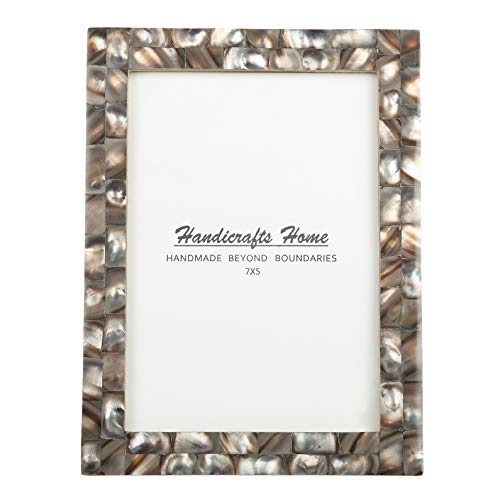 5x7 Picture Frames Chic Photo Frame Mother of Pearl Handmade Vintage from Handicrafts Home (5x7, Grey)
