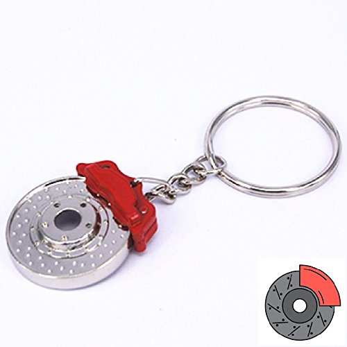 Disc Brake Rotor Brake Caliper Disc Pump Racing Sport 2 Pot 4 Pot 6 Pot Brake Caliper Car Motorcycle Auto Racing Sport Performance Parts Keychain Keyring For Universal Key (Pot 4 Racing)