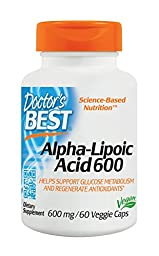 Doctor\'s Best Alpha-Lipoic Acid 600 mg 60 veggie caps