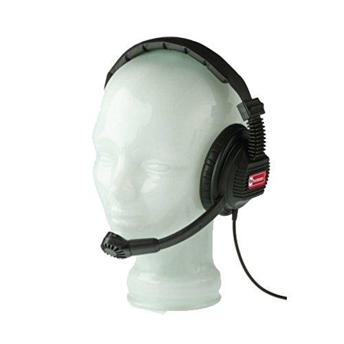(Pro Intercom SMH210 | Single Muff 400 Ohm Earspeaker 200 Ohm Mic Headset)