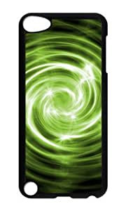 Ipod 5 Case,MOKSHOP Adorable Spiral Abstract Light Hard Case Protective Shell Cell Phone Cover For Ipod 5 - PC Black