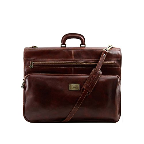 Tuscany Leather - Papeete - Garment leather bag Brown - TL3056/1 by Tuscany Leather