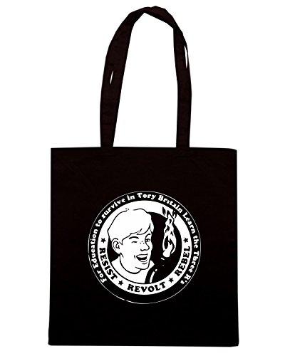 T-Shirtshock - Bolsa para la compra TCO0148 resist rebel Negro