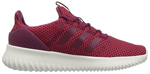 Adidas NEO Women's Cloudfoam Ultimate W Sneaker, Shock Red/Mystery Ruby/Chalk White, 6 Medium US