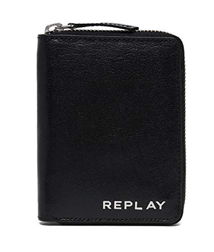 (Replay Fm5154.000.a3005a Men's Wallet, Black, 2x12x9 centimeters (B x H x T))