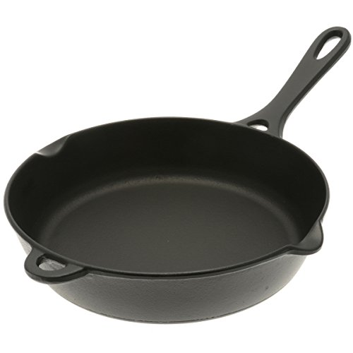 "Iwachu 410-681 9-1/2"" Cast Iron Frying Pan, Medium, Black"
