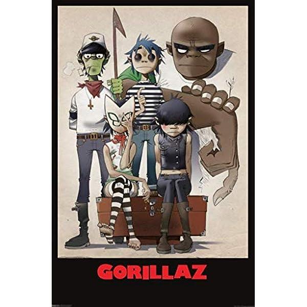 Kopoo Music Poster Rock Posters Gorillaz x x cm