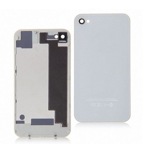 Goliton® New replacement battery cover back door rear glass for iPhone 4S A1387 - White