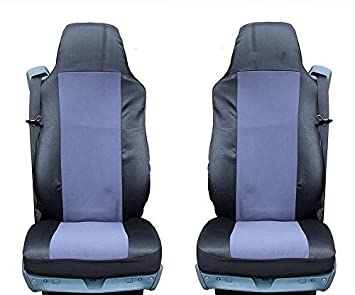 GREY BLACK QUALITY SEAT COVERS TAILORED