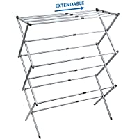 """Artmoon Gobi Foldable Drying Laundry Rack, Portable Clothes Horse Made of Rustproof Steel, Extendable 17.3""""- 29.5"""""""