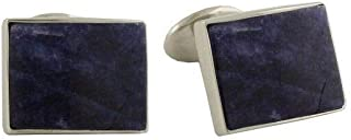 product image for David Donahue Men's Sterling Silver Rectangle Sodalite Cuff Links (CL550402)