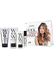 COLOR WOW Quick Frizz Fixes! Travel Kit Includes Shampoo, Conditioner, One Minute Transformation Styling Cream, Pop & Lock Frizz Control and Glossing Serum