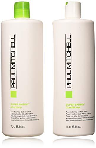 Paul Mitchell Smooth + Soften Super Skinny Liter Duo Set (Frizz Mitchell Shampoo Paul)