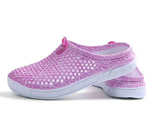Perforés Respirante D'été Sandales Chaussures Chaussures Femme Tous Les Plage Jardin Sports à Chaussons pour Rose Sabots Enfiler Bevalsa de 4wpBERxx