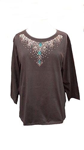 Fionalissa - Camisa deportiva - Cuello redondo - Manga Larga - para mujer