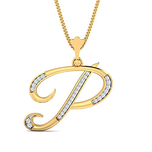 Kuberbox 18KT Yellow Gold and Diamond Pendant for Women