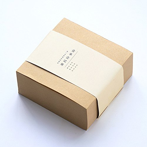 MiiSii(TM) 400 Sheets 4 x 4 Inches Block Memo Note Pads (Kraft ()