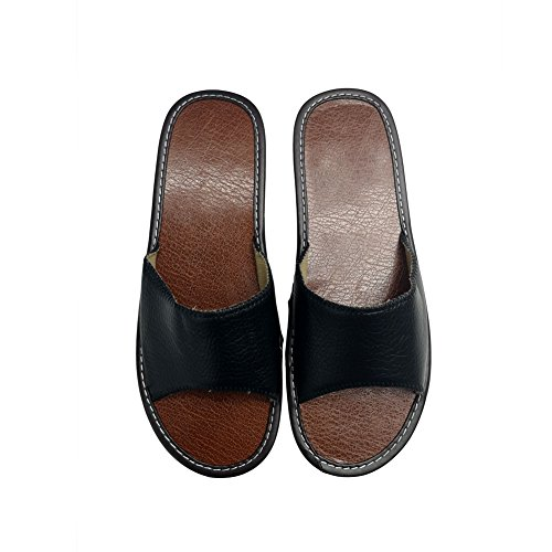 Men Slippers Summer Beach Shoes Women Slipper House Indoor Sandals Linen Women HRFEER Silent Black Cp4wqx1
