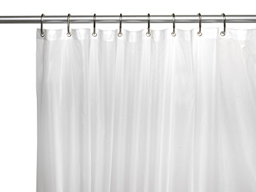 BenandJonah Extra Long and Heavy 10 Gauge PEVA Non-Toxic Shower Curtain Liner with Metal Grommets (72