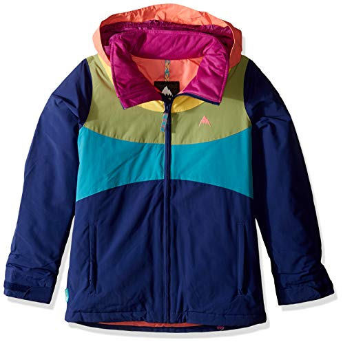 Burton Girls' Hart Jacket, Medium, Spellbound/Georgia Peach/Sunglow/Mosstone, Medium ()