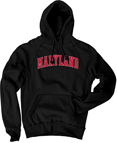 NCAA Maryland Terrapins Men's Sanded Fleece Pullover Hoodie, Vintage/Faded Black, (Maryland Terps Ncaa Hoody)