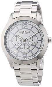 Mike Ellis New York M2756ASM/1 - Reloj analógico de cuarzo para mujer, correa de acero inoxidable color plateado