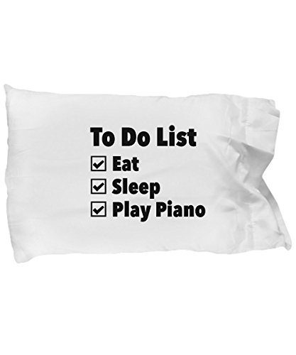 Gifts for Piano Players Men Women Girl Boy - Funny Gifts for Piano Lovers Teacher Students - Gifts for Pianists Pillow Case - Unique Idea for Dad Mom