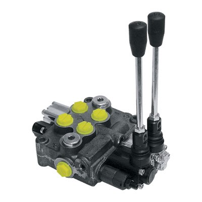 (Prince MB21BB5C1 Directional Control Valve, Monoblock, Cast Iron, 2 Spool, 4 Ways, 3 Positions, Double  Acting Cylinder Spool, Spring Center, Straight Handle, 3500 psi, 8 gpm, In/Out: #8 SAE,)
