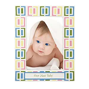 "Gorham Merry Go Round Pitter Patter Frame Our New Baby 5"" X 7"""