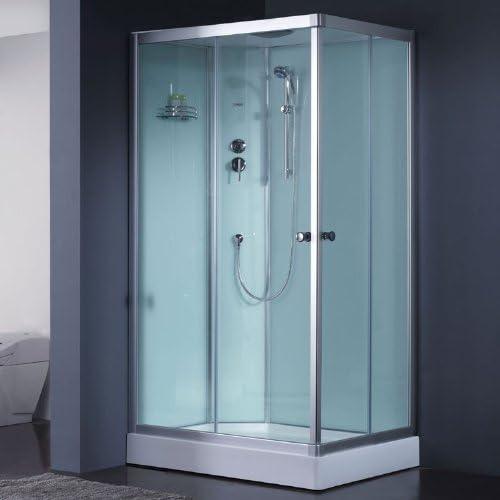 Mampara de ducha 1000-4IH blanco 100 x 80 izquierda: Amazon.es: Hogar