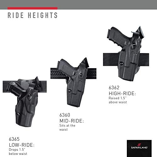 Safariland 6360 ALS//SLS Mid-Ride Level-III Retention for Glock 30 Hi-Gloss