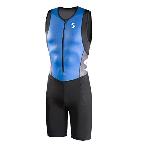 Synergy Men's Triathlon Trisuit (Blue/Black, Medium)