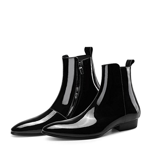 Chelsea Boots Mens Läder Svart Blixtlås Klänning Ankel Stövlar Formella Skor (us 8)