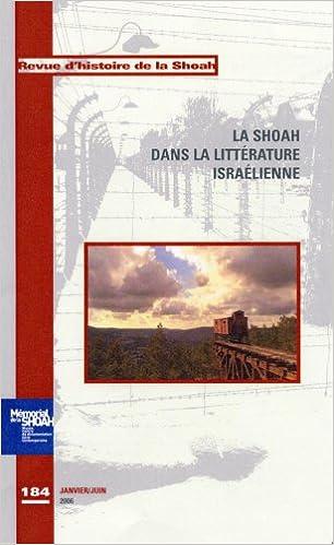Livres La Shoah dans la littérature israëlienne pdf, epub