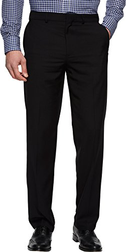 Dockers Men's Straight Fit Stretch Dress Pants Black 32 29 ()