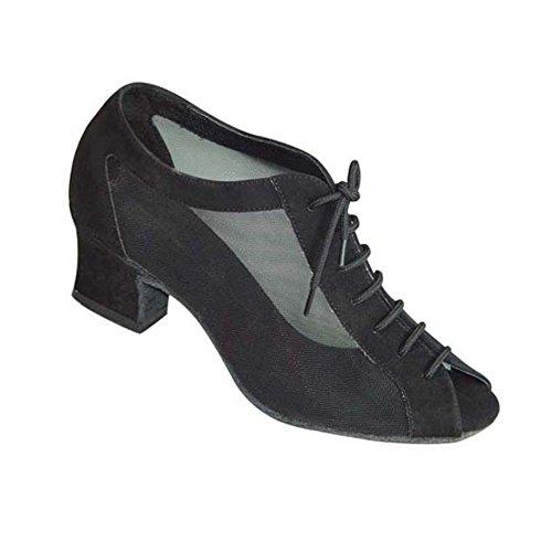S D S WDS, Damen Tanzschuhe Schwarz Schwarz
