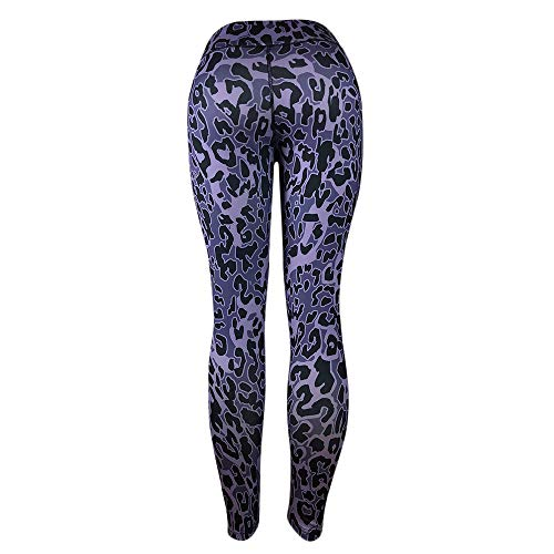 AOJIAN Yoga Pants Buttery Soft Tummy Control Leopard Jogger Capri Workout Running Sports Leggings for Women Purple ()