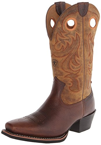 Ariat Men's Sport Square Toe Western Cowboy Boot, Fiddle Brown, 9.5 M US