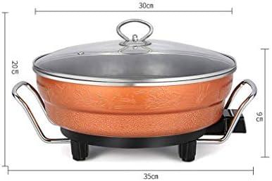 DYXYH Hot Pot électrique, électrique électrique Nonstick Skillet Poêle, cuisson rapide Uniformément Chauffage, taille de la famille, Stay Cool fond et poignée