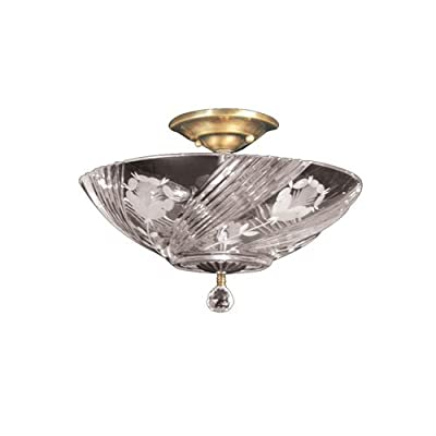 Dale Tiffany GH60717PB Grove Park Semi Flush Mount Light Fixture, Polished Brass