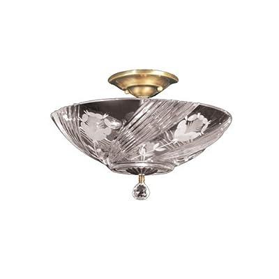 Dale Tiffany GH60717PB Grove Park Semi Flush Mount Light Fixture, Polished Brass