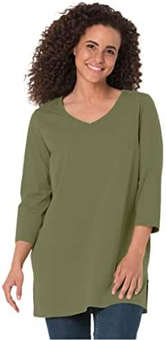 Women's Plus Size Top, The Perfect Tunic With 3/4 Sleeves