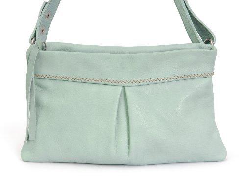 cant go naked®,mirablau, POCHETTE clutch, Damen Designertasche, mint grün, ca. 25 x 16cm