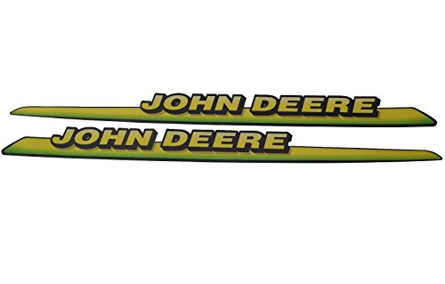 New John Deere Upper Hood Decal Set M126040 M126041 325 335 345 GT LX Low S/N (Hood Decal Set)