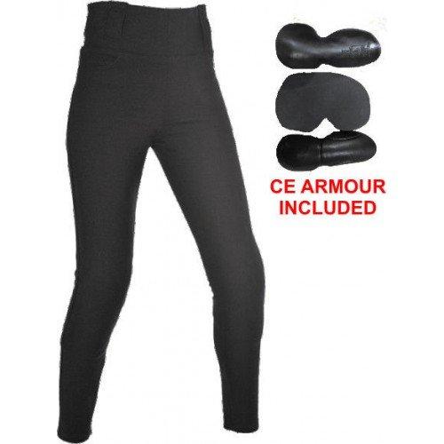 Schwarz Gr/ö/ße 12 Bikers Gear Australia Limited Damen Gef/üttert mit Kevlar Schutz Motorrad Leggings mit abnehmbare CE Armour