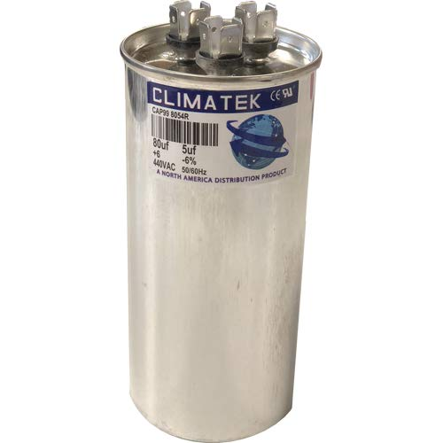 fits York # 1498-580 1498-5801 ClimaTek Round Capacitor 80//5 uf MFD 370//440 Volt VAC