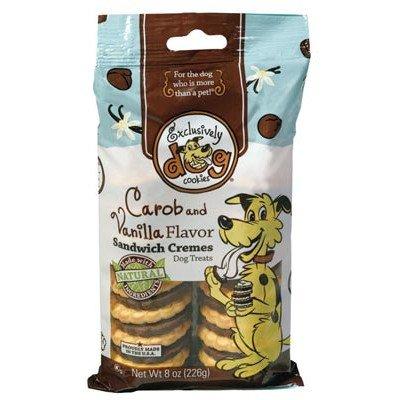 Sandwich Creme Dog Cookies - Sandwich Cremes Cookies Dog Treat [Set of 3] Flavor: Carob & Vanilla