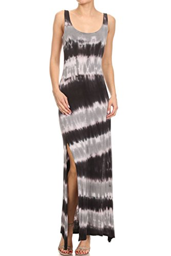 Buy black and grey tie dye dress - 3