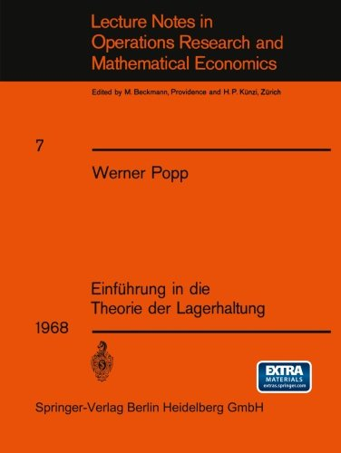 Einführung in die Theorie der Lagerhaltung (Lecture Notes in Economics and Mathematical Systems) (German Edition) (Maler Lager)