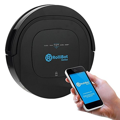 ROLLIBOT GENIUS BL800 – Robotic Vacuum Cleaner. Vacuum's, Sweeps, and Wet Mops Hard Surfaces and Carpet (Certified Refurbished)